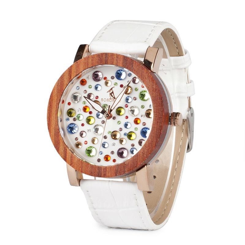 20e37a20e Bobo Bird White dámske drevené hodinky empty