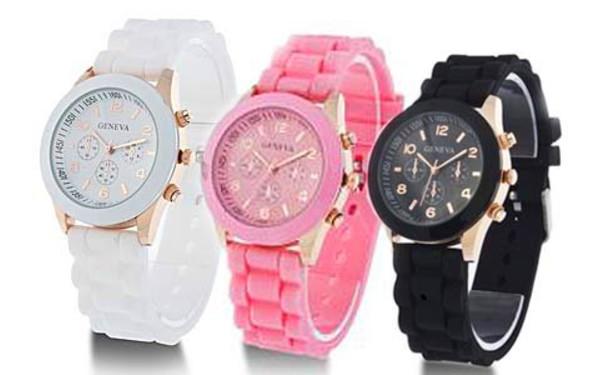 Farebné silikónové hodinky empty fe36fd54997